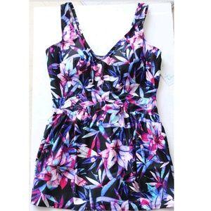 388c9c39f07 Le Cove Swim - Le Cove Swim Suit Dress Plus Size Skirt Floral NEW